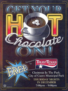 Hot Chocolate Nights flyer