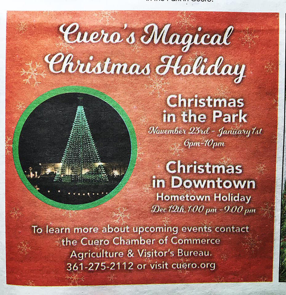 Advertisement: Cuero's Magical Christmas Holiday