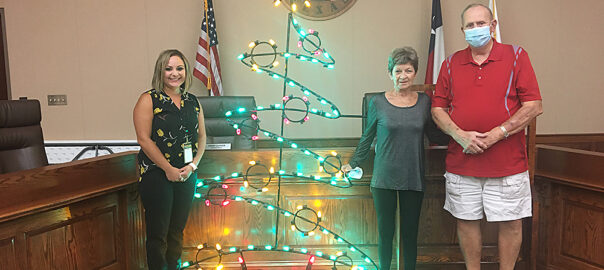 Pictured, from left: DEC Secretary Samantha Bayfus, Kay Lewis, and DEC Treasurer Alton Meyer