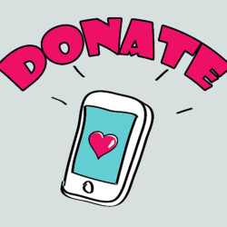 Graphic: Donate with smartphone app
